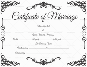 22+ Editable Marriage Certificate Templates (Word And Pdf regarding Marriage Certificate Editable Template