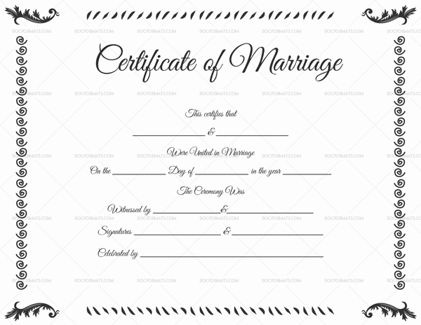 22+ Editable Marriage Certificate Templates (Word And Pdf Regarding Unique Marriage Certificate Editable Templates