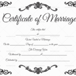 22+ Editable Marriage Certificate Templates (Word And Pdf With Regard To Best Blank Marriage Certificate Template