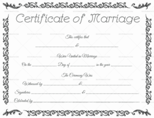 22+ Editable Marriage Certificate Templates (Word And Pdf with Unique Marriage Certificate Editable Templates