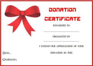 22 Legitimate Donation Certificate Templates For Your Next with regard to Quality Donation Certificate Template
