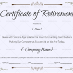 22+ Retirement Certificate Templates - In Word And Pdf | Doc with regard to New Retirement Certificate Templates