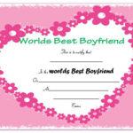 23 Best Boyfriend Certificates That Can Make Your Loved Ones In New Best Boyfriend Certificate Template