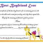 23 Best Boyfriend Certificates That Can Make Your Loved Ones Intended For Certificate For Best Boyfriend 10 Sweetest Ideas