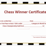 23 Free Printable Chess Certificates You Can Use For Chess For Chess Tournament Certificate Template Free 8 Ideas