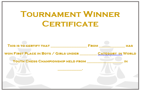 23 Free Printable Chess Certificates You Can Use For Chess for Unique Chess Tournament Certificate Template Free 8 Ideas