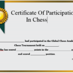 23 Free Printable Chess Certificates You Can Use For Chess In Chess Tournament Certificate Template Free 8 Ideas