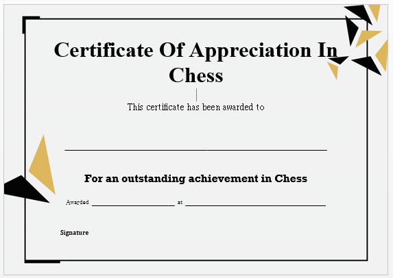 23 Free Printable Chess Certificates You Can Use For Chess intended for Chess Tournament Certificate Template Free 8 Ideas