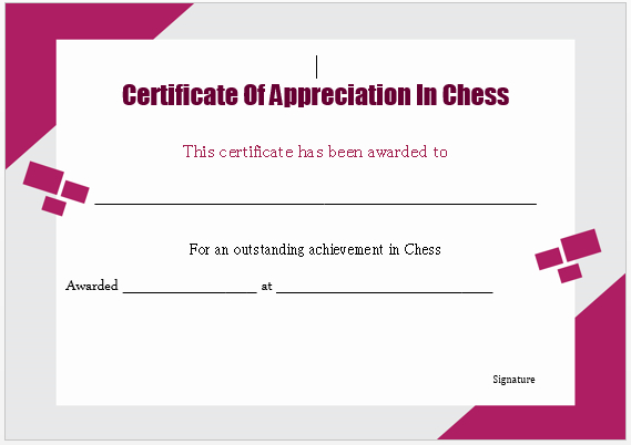 23 Free Printable Chess Certificates You Can Use For Chess within Unique Chess Tournament Certificate Template Free 8 Ideas