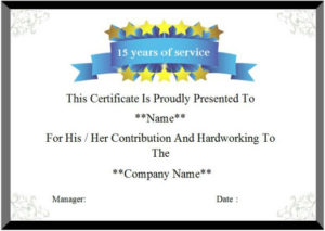 24 Certificate Of Service Templates For Employees (Formats regarding Fresh Years Of Service Certificate Template Free 11 Ideas