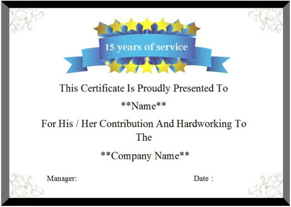 24 Certificate Of Service Templates For Employees (Formats throughout Fresh Certificate For Years Of Service Template