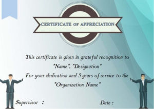 24 Certificate Of Service Templates For Employees (Formats with regard to Years Of Service Certificate Template Free 11 Ideas