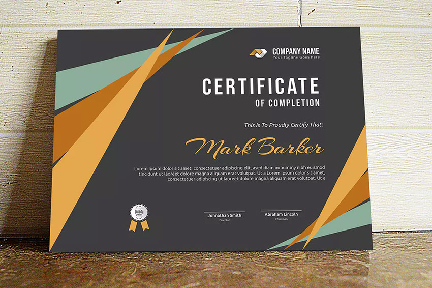 25+ Best Certificate Design Templates: Awards, Gifts in Great Job Certificate Template Free 9 Design Awards