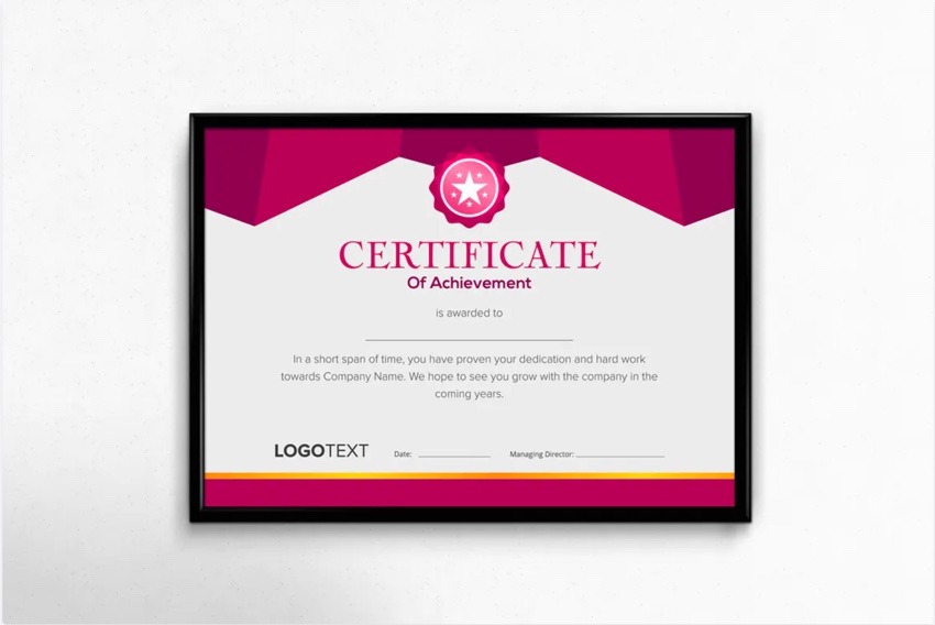 25+ Best Certificate Design Templates: Awards, Gifts regarding Volunteer Of The Year Certificate 10 Best Awards