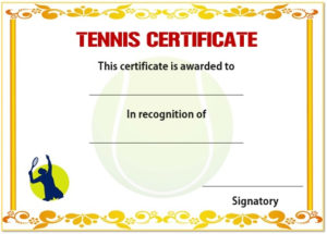 25 Free Tennis Certificate Templates – Download, Customize for Best Editable Tennis Certificates
