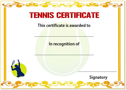 25 Free Tennis Certificate Templates - Download, Customize for Best Editable Tennis Certificates
