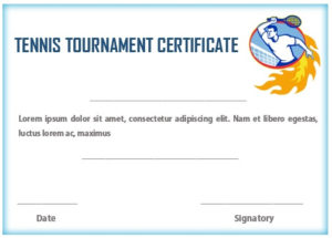 25 Free Tennis Certificate Templates – Download, Customize intended for Unique Tennis Tournament Certificate Templates