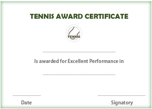 25 Free Tennis Certificate Templates - Download, Customize intended for Unique Tennis Tournament Certificate Templates