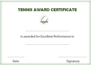 25 Free Tennis Certificate Templates – Download, Customize with regard to Tennis Certificate Template Free