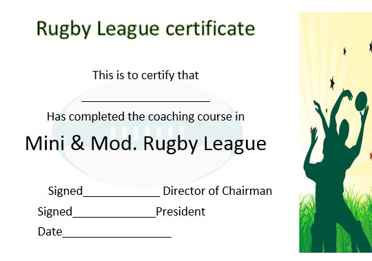 25 Masterpiece Rugby Certificates Templates - Free Download in Fresh Rugby League Certificate Templates