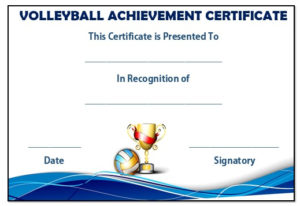 25 Volleyball Certificate Templates – Free Printable in Quality Volleyball Award Certificate Template Free