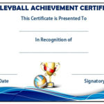 25 Volleyball Certificate Templates – Free Printable Throughout Volleyball Tournament Certificate