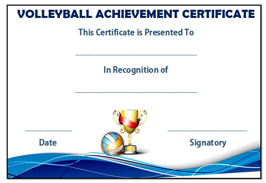 25 Volleyball Certificate Templates - Free Printable throughout Volleyball Tournament Certificate