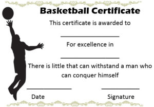 27 Professional Basketball Certificate Templates – Free throughout Basketball Gift Certificate Templates