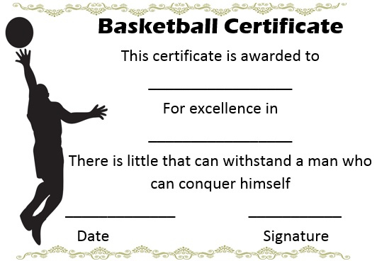 27 Professional Basketball Certificate Templates - Free throughout Basketball Gift Certificate Templates