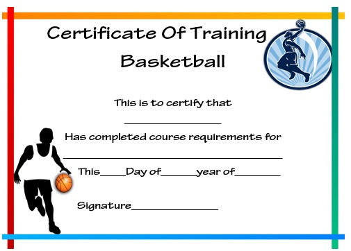 27 Professional Basketball Certificate Templates - Free throughout Player Of The Day Certificate Template