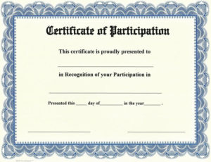 28+ [ Participation Certificate Template ] | Pics Photos P for Unique Certificate Of Participation Template Doc