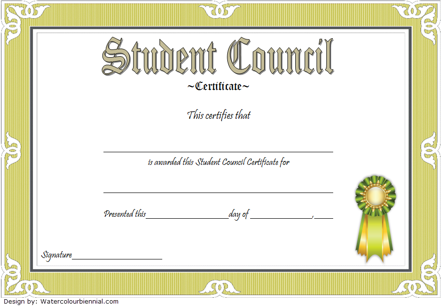 2Nd Student Council Award Certificate Template Free In 2020 in Student Council Certificate Template Free