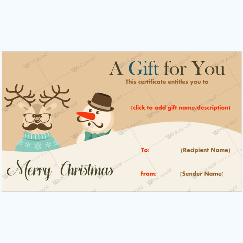 30+ Christmas Gift Certificate Templates - Best Designs (Word) pertaining to Fresh Merry Christmas Gift Certificate Templates