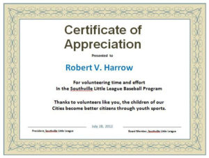 30 Free Certificate Of Appreciation Templates And Letters for New Gratitude Certificate Template
