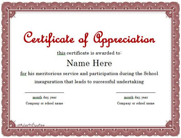 30 Free Certificate Of Appreciation Templates And Letters pertaining to New Certificates Of Appreciation Template