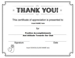 30 Free Certificate Of Appreciation Templates – Free inside Unique Free Template For Certificate Of Recognition