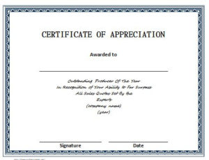 30 Free Certificate Of Appreciation Templates – Free pertaining to Best Downloadable Certificate Templates For Microsoft Word
