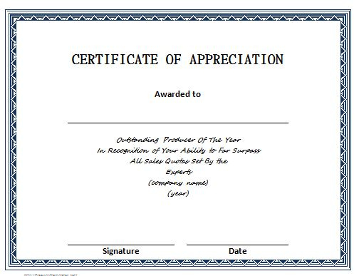 30 Free Certificate Of Appreciation Templates - Free pertaining to Best Downloadable Certificate Templates For Microsoft Word