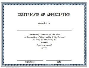 30 Free Certificate Of Appreciation Templates – Free throughout New Certificates Of Appreciation Template