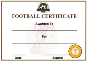 30 Free Printable Football Certificate Templates – Awesome with Best Football Certificate Template