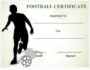 30 Free Printable Football Certificate Templates – Awesome with New Youth Football Certificate Templates