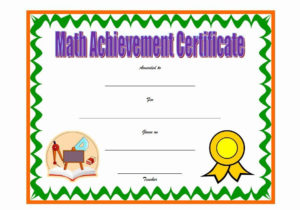 30 Free Printable Math Certificates | Pryncepality in Math Certificate Template 7 Excellence Award