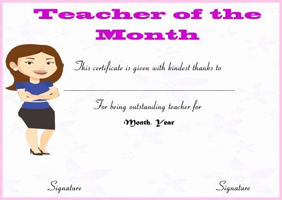 30 Free Printable Student Of The Month Certificate Templates in Fresh Teacher Of The Month Certificate Template