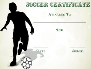 30 Soccer Award Certificate Templates – Free To Download intended for Soccer Certificate Template Free 21 Ideas