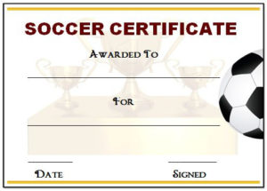30 Soccer Award Certificate Templates – Free To Download regarding New Soccer Achievement Certificate Template