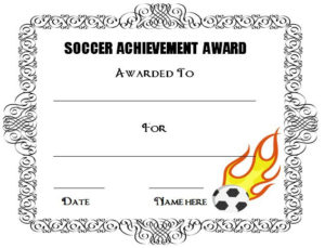 30 Soccer Award Certificate Templates – Free To Download regarding Soccer Achievement Certificate Template