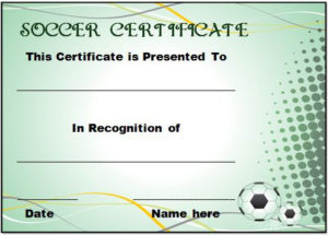 30 Soccer Award Certificate Templates – Free To Download regarding Soccer Certificate Template Free 21 Ideas