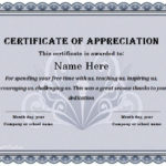 31 Free Certificate Of Appreciation Templates And Letters For Certificate Of Appreciation Template Doc