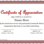 31 Free Certificate Of Appreciation Templates And Letters With New Certificate Of Recognition Template Word