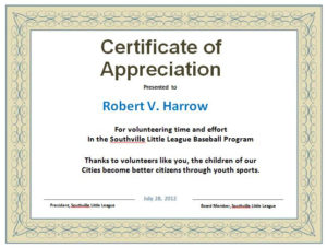 31 Free Certificate Of Appreciation Templates And Letters with New In Appreciation Certificate Templates